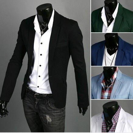 Free Shipping New Men's Fashion Blazer Coat Male Suit Casual Suit Men's Clothing Outerwear 7 Color M L XL XXL XXXL 4XL 5XL US $16.99 - 19.99