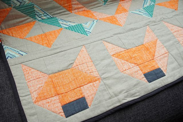 Wilko Animal Pillow : Fox quilt by What Katie Does, via Flickr Quilts Pinterest My sister, Quilt and Boys