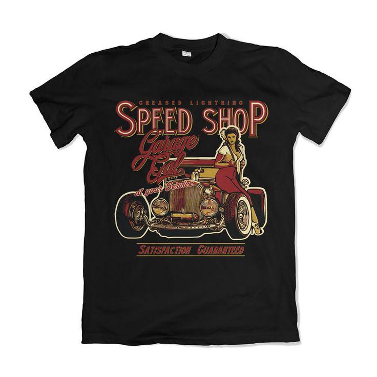 Garage Gal T-shirt design