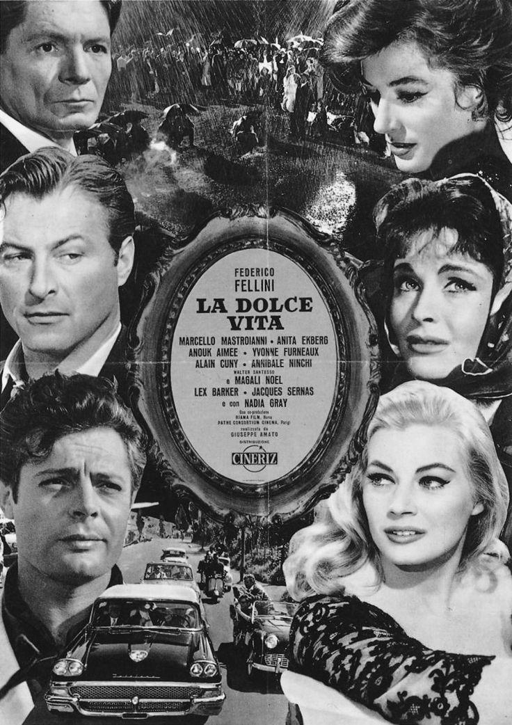 La Dolce Vita (1960) starring Marcello Mastroianni & Anita Ekberg