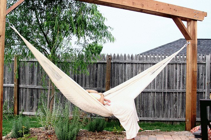 I've been trying to get a hammock for two years now, but now I'm not even sure I will have a yard anymore. I am incredibly jealous of this one.
