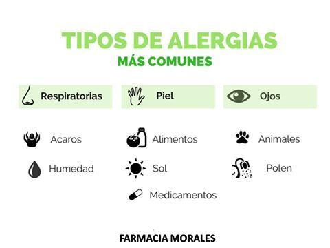 La #alergia es una reacción exagerada del sistema inmunitario a agentes que para otros seres humanos son completamente inofensivos. A continuación un cuadro con las alergias más comunes, y los factores que las desencadena.  https://www.facebook.com/farmacia.doctora.morales o https://farmaciamoralesblog.wordpress.com/