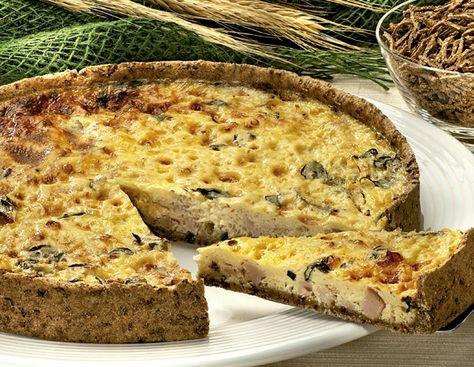 Receita de Quiche de peito de peru e queijo branco Receitas Light