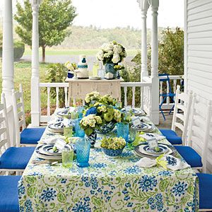 Punch Up the Porch | A Fresh, Fun Outdoor Luncheon | SouthernLiving.com This looks nice, wonder how functional it is.