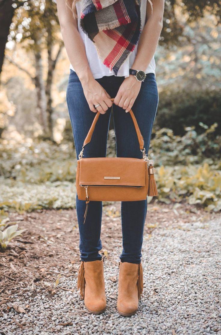 Foldover in Cognac by Poppy & Peonies Photograph by Christina Stirpe Photography #cognac #foldover #purse #desiner #handbag #poppyandpeonies #fall #fashion #guessjeans #model #crossbody #wristlet #clutch