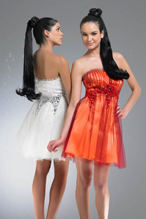 red short prom dresses
