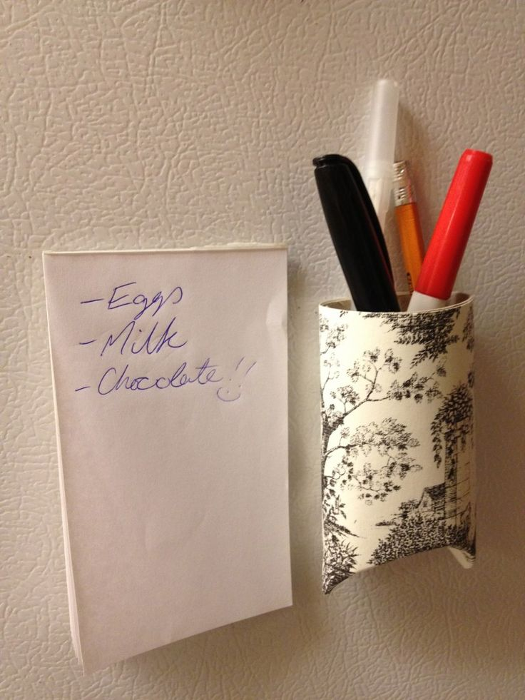 Up-cycled Toilet Paper Roll, cover or color, fold one end, add a strong magnet, could be a great gift for an adult