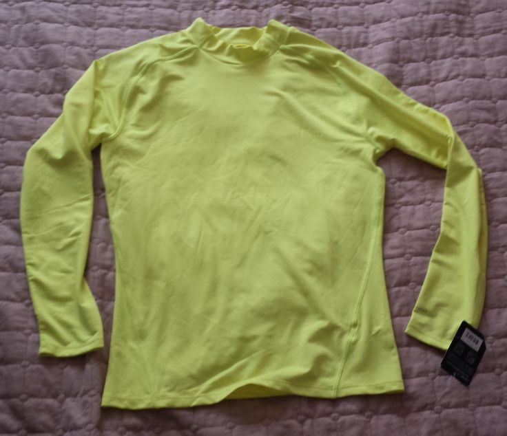 Layer 8 men size M base layer NWT long sleeve athletic #shirt VIBRANT LEMON color visit our ebay store at  http://stores.ebay.com/esquirestore