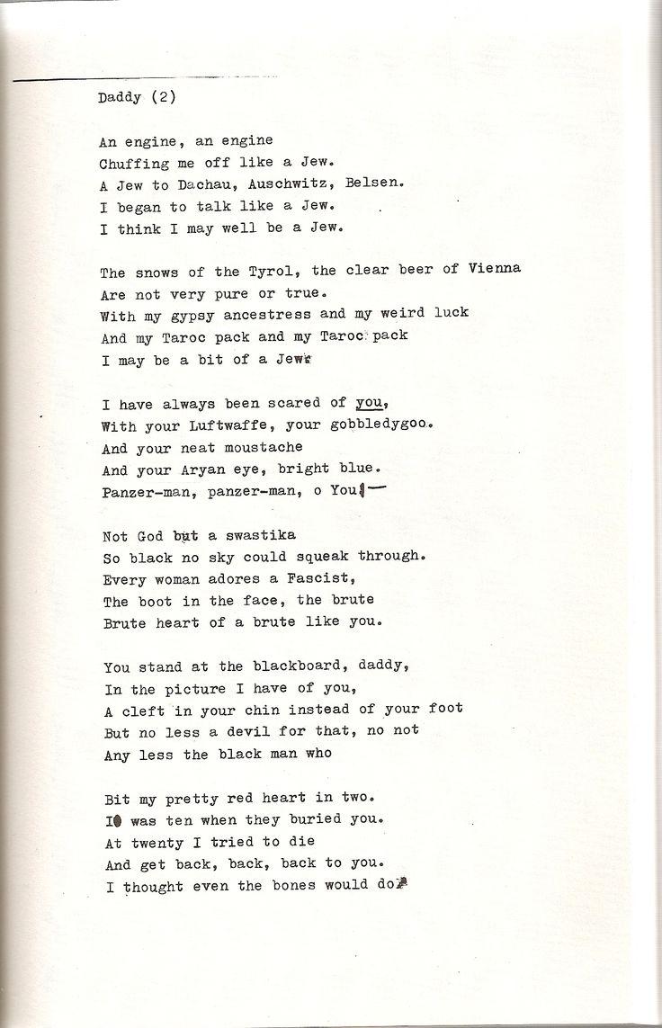 Daddy - Sylvia Plath (pt. 2)