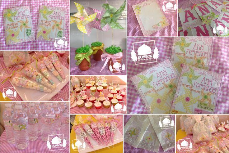 #Pastel #Colors #Pinwheel #Rehilete #Rehiletes #Birthday #Party #Cute #Invitaciones #Bombon #Card #Invitation #Candy #BAr #favorbag #favor #bag
