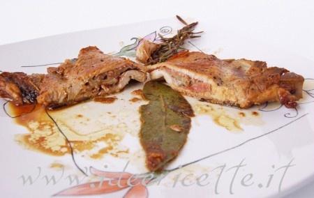 Bistecchine di maiale farcite con speck, fontina e funghi porcini