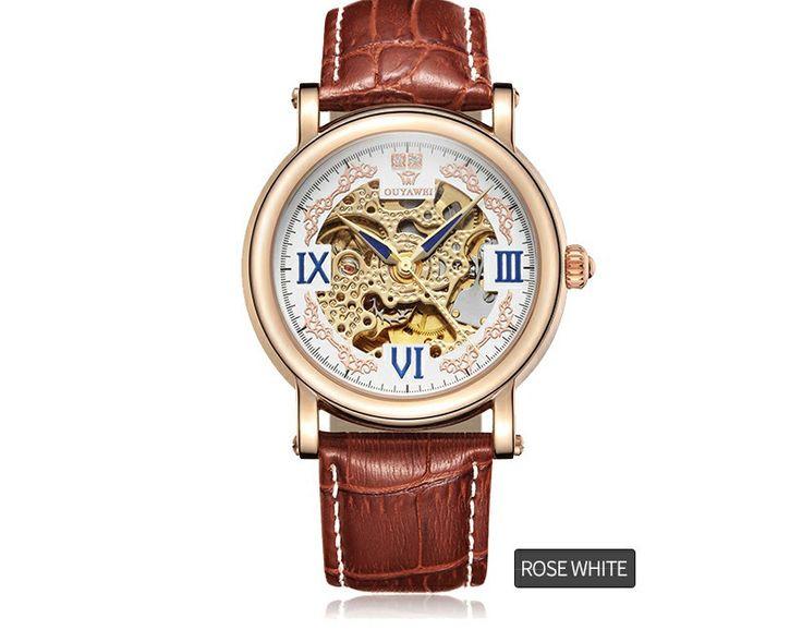 Mecânico automático Relógios Homens de Luxo Da Marca Homens Relógio de Pulso de Esqueleto Relógio de Pulso de Couro Relógio Masculino Relógio de Negócios Informais em Relógios mecânicos de Relógios no AliExpress.com | Alibaba Group