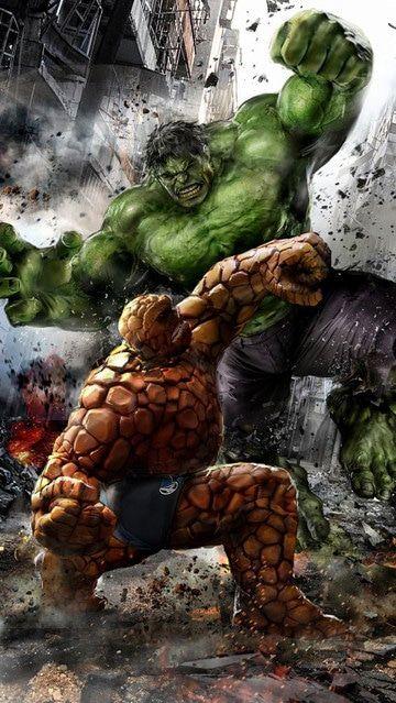 imagen de hulk enojado y la mole