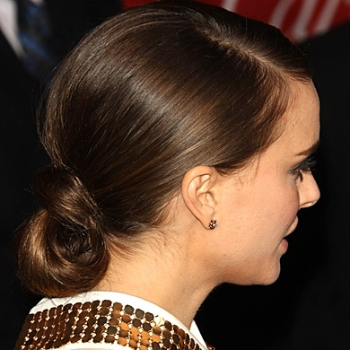 Natalie Portman updo | Bridal Hair | Pinterest Natalie Portman