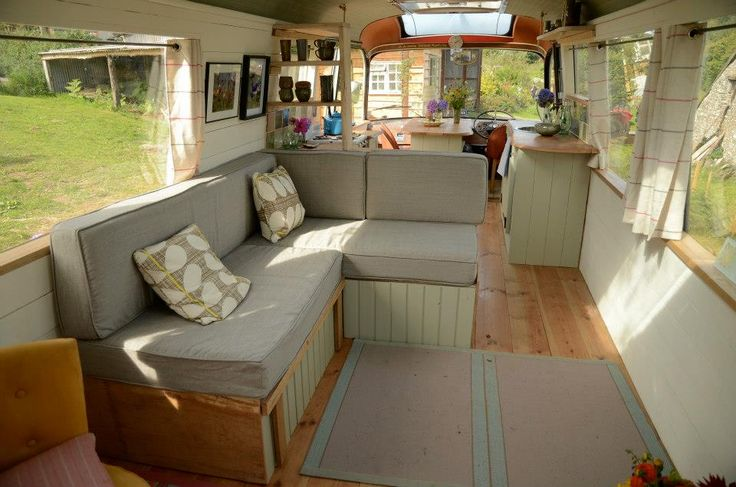 Living in a shoebox     Majestic Bus converted to adorable living space
