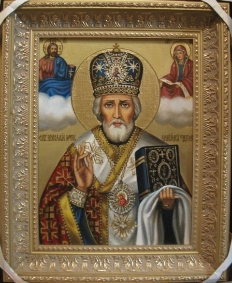 Св.Николай Чулотворец (холст,масло)-художник Ядвига Сенько