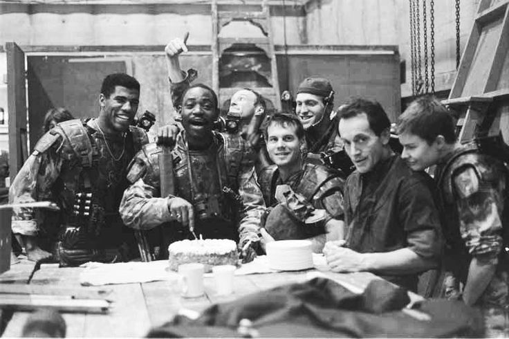 Al Williams celebrating his birthday on the set of #Aliens (1986) with the colonial marines