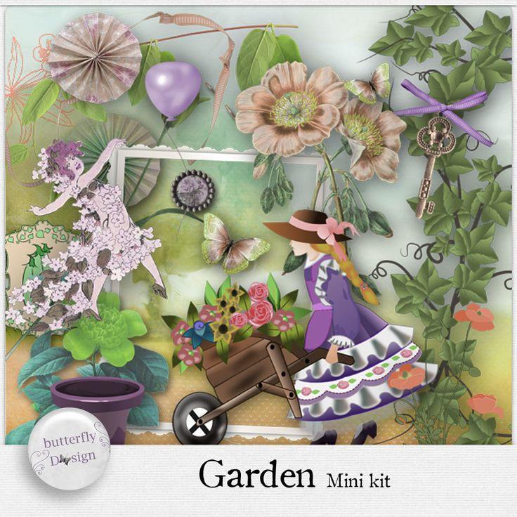 Digital Art :: Kits :: Garden [Mini kit] by butterflyDsign