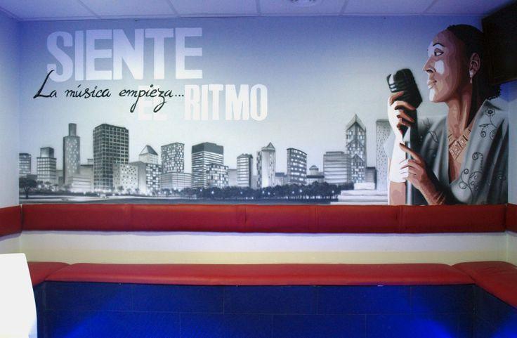 Mural, Chill out primera parte, Madrid 2012, más trabajos similares en: http://murea.es/decorativos-y-exteriores/