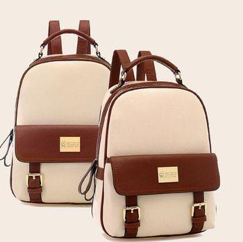 Mochila apressado novo 2014 moda feminina mochilas patchwork urso da menina estudante da escola bolsas pu de couro mochila de viagem grátis frete