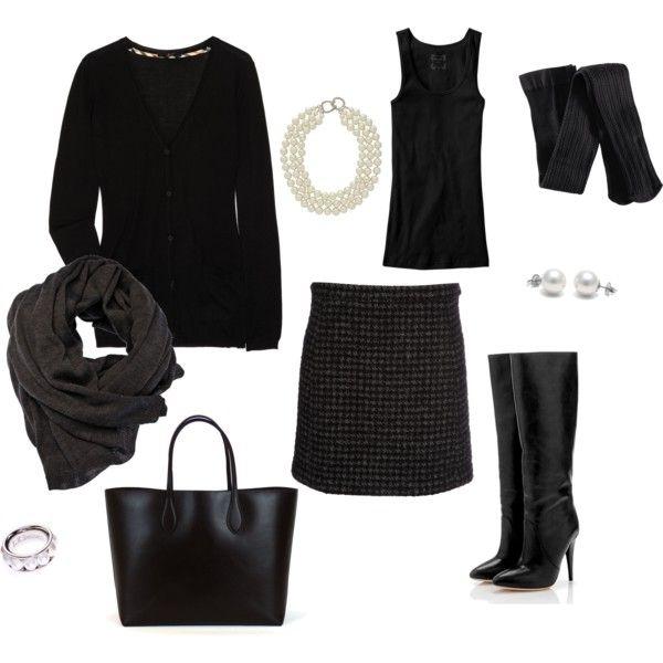 classic black: Work Clothing, Work Fashion, Winterf Style, Closet Dresses, Winter Work, Style Pinboard, Work Style, Classic Winter, Classic Black