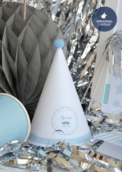 Paper Cap. Mustache Party by Wiewiorka i Spolka®