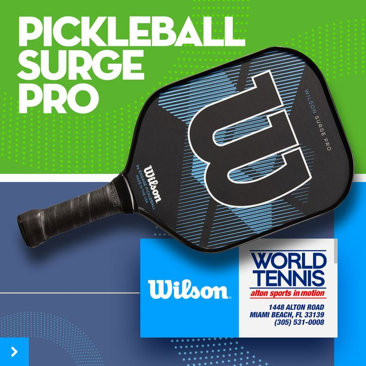 Wilson Surge Pro Pickleball Paddle The Surge Pro is a