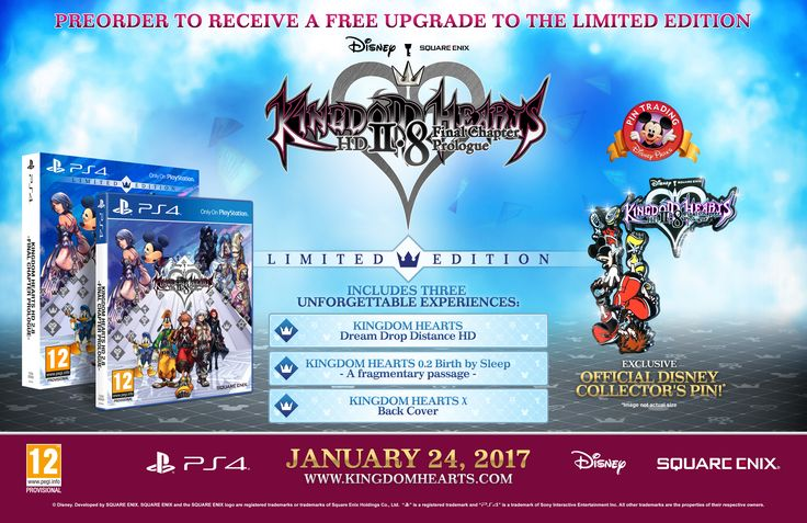 Originally released in 2012, KINGDOM HEARTS [Dream Drop Distance] HD is a full HD remastered version of KINGDOM HEARTS 3D [Dream Drop Distance].<br><br>