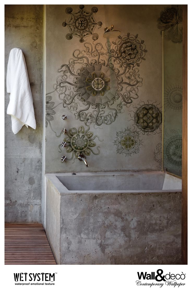40 best bathroom wallpaper images on pinterest bathroom wallpapers that take over the role of the old murals becoming site specific artworks accessible to many