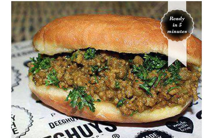 Deeghuys has scrumptious Grab & Go food items, ready in a few minutes. Try our yummy Curry Mince Vetkoek on a cold winter's day.