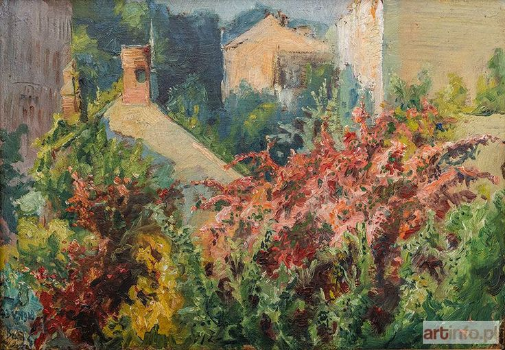 Stanisław KACZOR-BATOWSKI ● W kwitnącym ogrodzie, 1918 r. ●