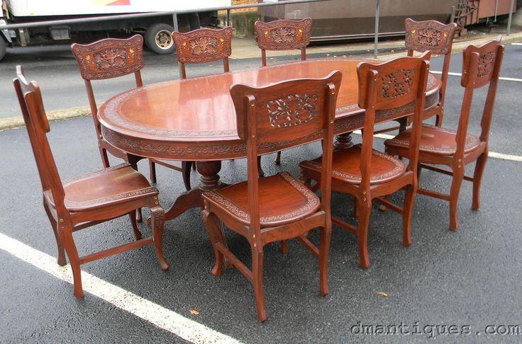 solid wood farmhouse table seats 8