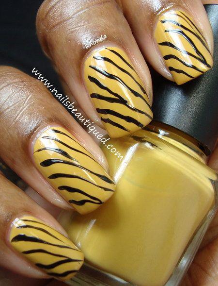 Zebra Stripe Nail Art