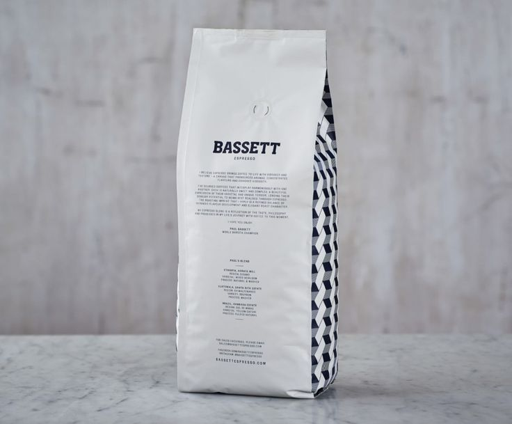 Bassett Espresso brand identity and packing by Squad Ink