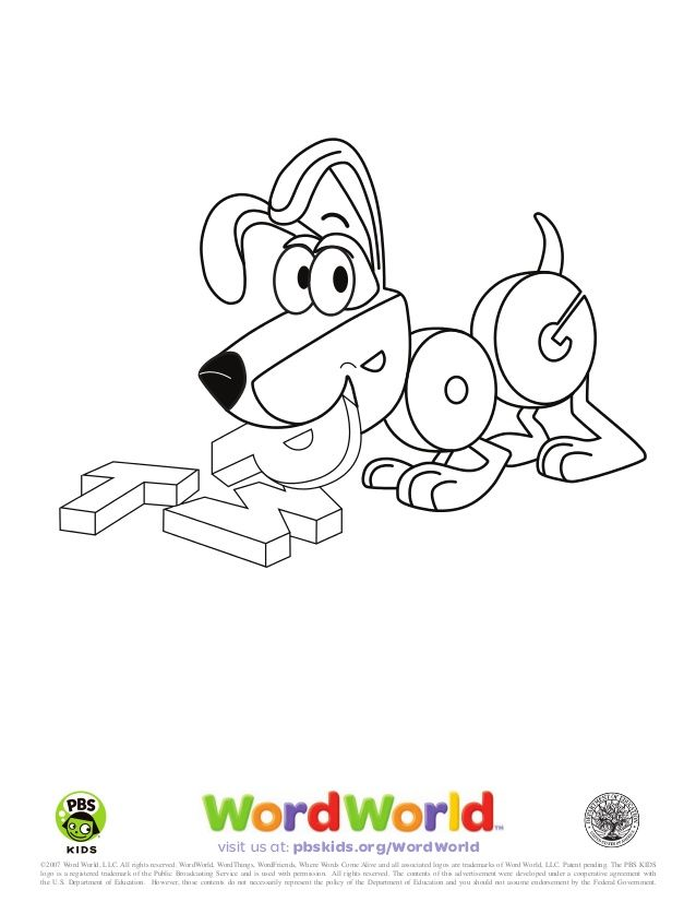 Word World Coloring Pages Coloring Pages Cartoon Coloring Pages Coloring Pages For Kids