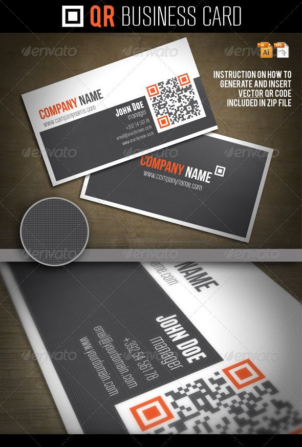 117 best business cards psd with qr code images on pinterest qr business card colourmoves