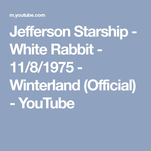 Jefferson Starship - White Rabbit - 11/8/1975 - Winterland (Official) - YouTube