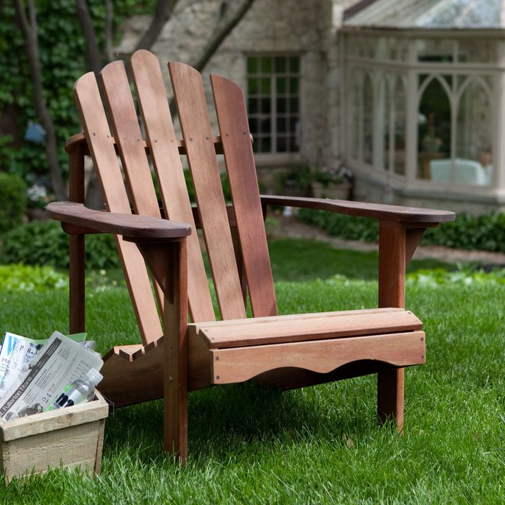 Belham Living Richmond Deluxe Shorea Wood Adirondack Chair | from hayneedle.com