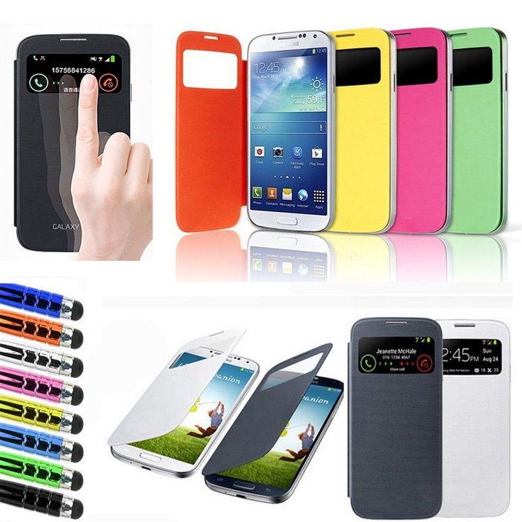 New Smart s View Flip Battery Case Cover for Samsung Galaxy S4 Mini I9190 | eBay