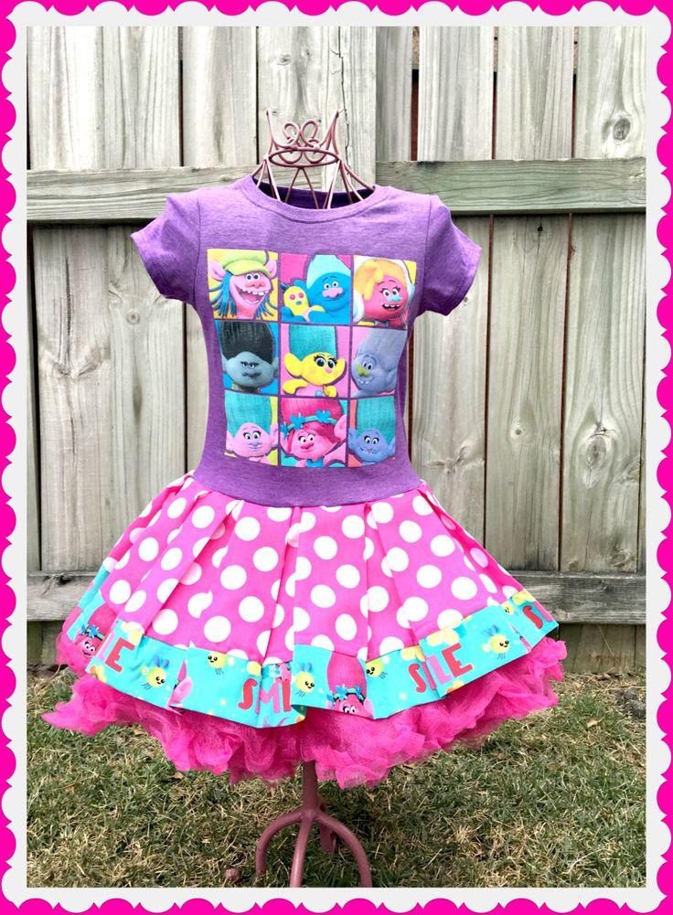 girls Trolls dress size 4/5 6/6X 7/8 10/12 14/16 ready to ship today by BlossomBlueBoutique on Etsy https://www.etsy.com/listing/486738119/girls-trolls-dress-size-45-66x-78-1012