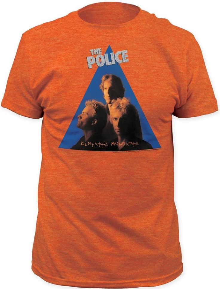 Rocker Rags - The Police T-shirt - Zenyatta Mondatta Album Cover Artwork | Men's Orange Shirt, $23.00 (http://www.rockerrags.com/the-police-t-shirt-zenyatta-mondatta-album-cover-artwork-mens-orange-shirt/)