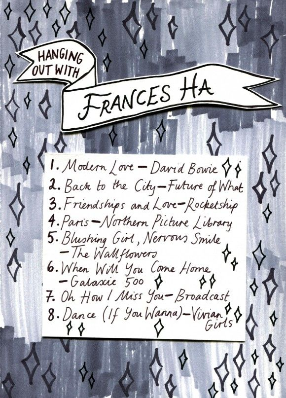 Friday Playlist: Frances Ha, Illustration by Minna.