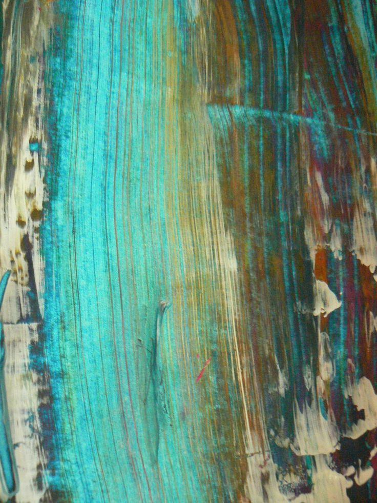 Grab And Scrape Painting Technique Arts Pinterest