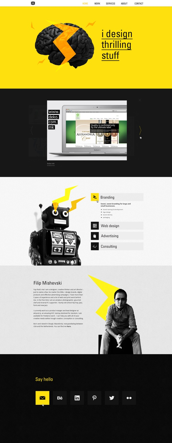Ф :: Personal Brand Identity by Filip Mishevski, via Behance
