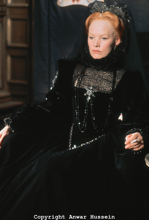 """""""Elizabeth R"""" - Glenda Jackson (though I believe this picture may be from her repeat role in Mary Queen of Scots with Vanessa Redgrave)"""