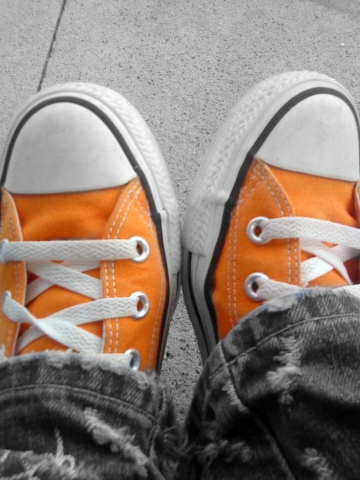 Orange Converses! I have these thanks to my Mama!!