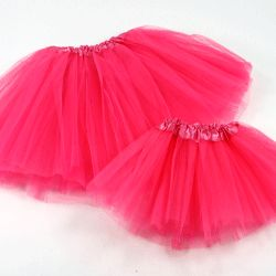 "Matching tutus for girls and dolls.  Doll tutu fits most 18"" inch dolls best.  Just $4.75 for the set."