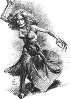 Caoineag - A banshee like spirit attached to the clans of the Highlands, who could be heard wailing at the bottom of waterfalls before there is death or catastrophe within the clan. Her name means 'the weeper'. #scottish #scotland #folklore