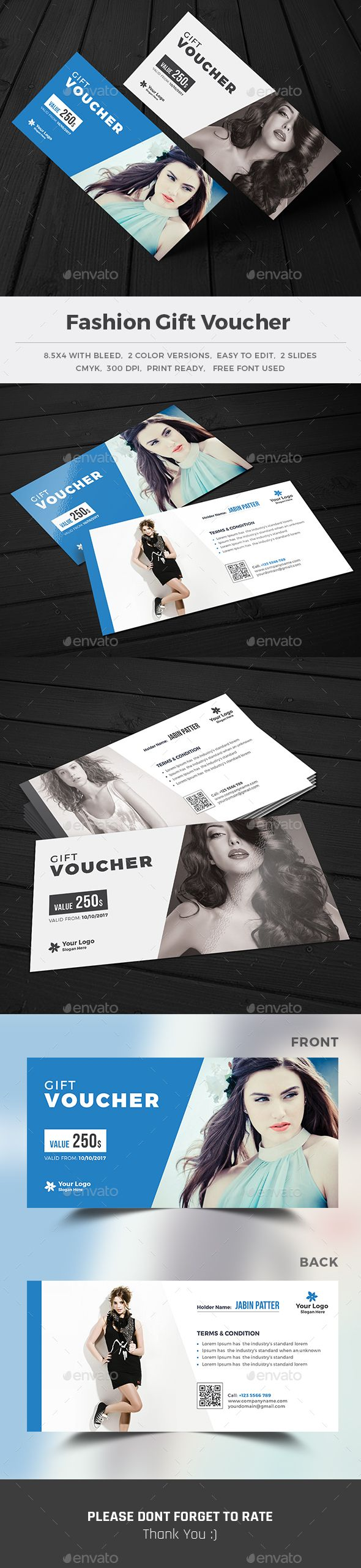 Fashion Gift Voucher Template PSD. Download here: http://graphicriver.net/item/fashion-gift-voucher-/16391160?ref=ksioks