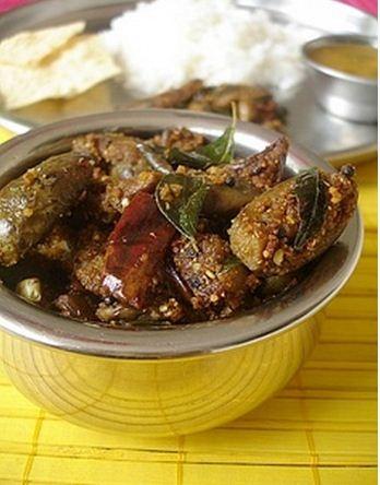 Vankaya Vepudu - Eggplant Stir fry (2) - Indian Food Recipes | Andhra Recipes | Indian Dishes Recipes | Sailu's Kitchen